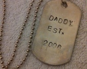 Daddy's Personalized Daddy Dog Tag Necklace