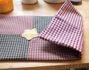 Primitive Houndstooth check patches with stars Candle keep Table mat