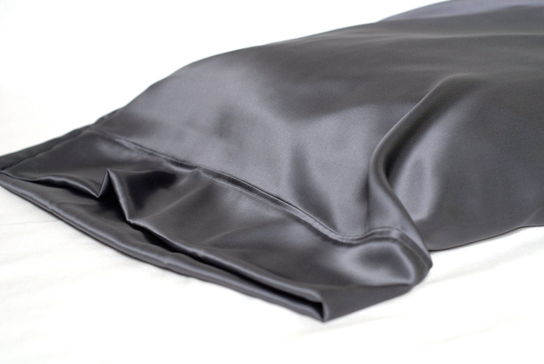 Sale 100 Silk Pillowcase Charcoal Gray Standard
