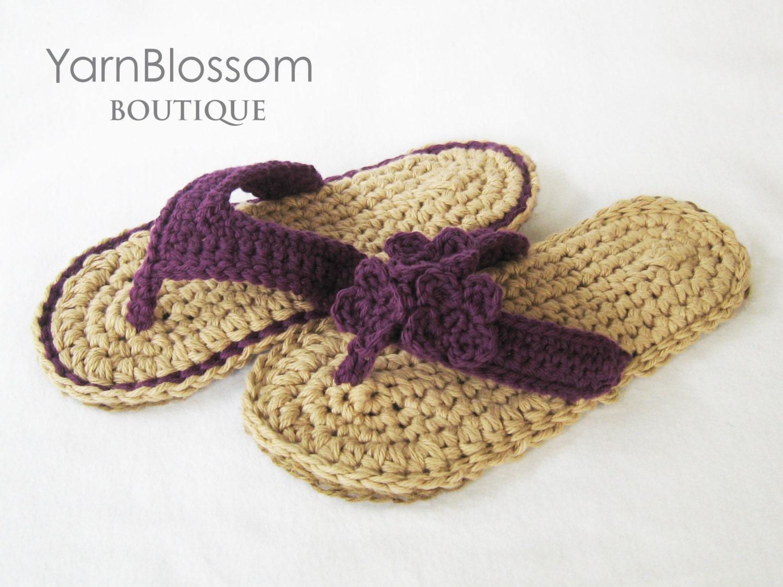 Crochet pattern indoor outdoor violet flip flops 4 zoom bankloansurffo Gallery