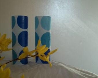 Blues Polka Dot Vases