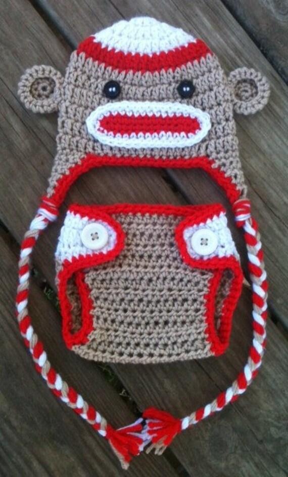Free Crochet Pattern Sock Monkey Hat And Diaper Cover Burak For