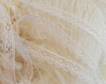 5 Yds~White Lace Trim-Dolls-Sewing-Crazy Quilts-Baby Trim Edging-2.80