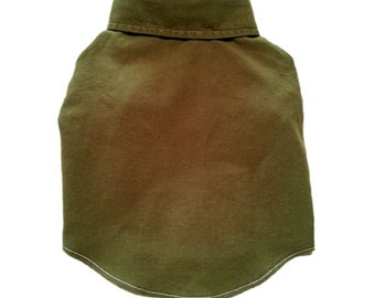 Dog Clothes, X Small Army Green Designer Dog Shirt, Pet Boutique Clothes Puppy Apparel