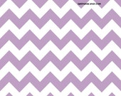 LAMINATED cotton fabric by the yard - Lavender purple chevron fabric - Approved for children's products