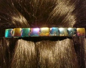 Extra large Barrette Thick Hair Barrette Large  Glass Barrette