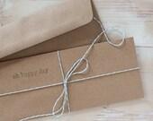 Brown Kraft Envelopes - No.10 Kraft Envelopes - Square Flap - 100 pc