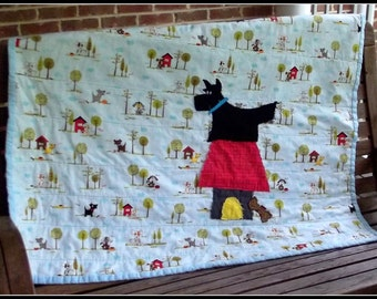 "Baby Quilt ""Angus, the Scottie Dog"""
