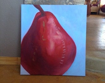 pear in stitches painting 22x24