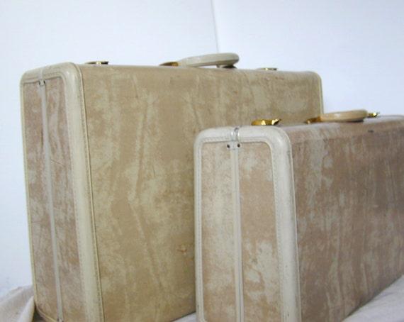 Vintage Samsonite Large Pullman Case Suitcase - Mens 2 Suites Circa 1946 - at KonniesPlace