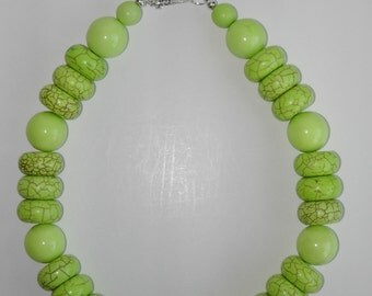 Lime Turquoise necklace. BIG (#349)