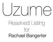 Reserved listing for Rachael Bangerter