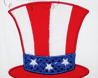 4th of July Uncle Sam Hat Design Applique