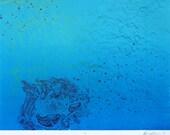 Sea - Abstract Silkscreen Print - 11x14
