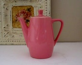 Vintage Pink Coffee Pot Made in Germany - Shabby Cottage Chic