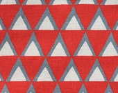Stamped - Triangles red by Ellen Baker from Kokka