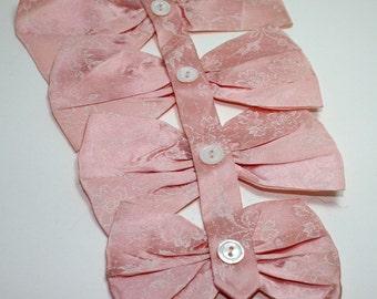 Jabot, Womens Neckware, Pink Bows, Ascot