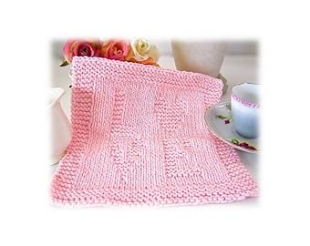 Women's girl's baby 'Love' wash dishcloth embossed word pink mint green ecru white mauve pink wedding bridesmaid favors