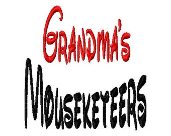 Grandma's Mouseketeers - Machine Embroidery Design - 8 Sizes