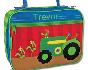 Personalized Lunch Box Bag Stephen Joseph Tractor