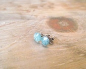 ITTY BITTY STUDS - Teal Blue Sparkle