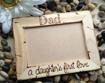 Gift for Dad - A Daughter's First Love holds a 4x6 photo Custom Wood Picture Frame Fathers Day Father Daughter Dance