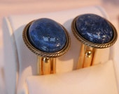 cufflinks gemstone Lapis Lazuli Seablue