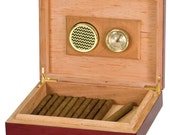 Set of 5 Personalized Piano Finish Humidor Rosewood, with Spanish Cedar inside. 9.5X 7.25X 2