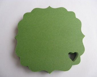 50 Top Notes With Heart. 4 inch. CHOOSE YOUR COLORS. Weddings, Favor, Place Cards, Escort, Table.