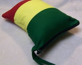 Large Rasta Glass Pipe case bag pouch