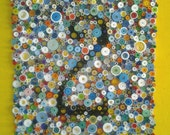 "Modern wall art, Modern paper art, Numbers, 3-Dimensional Paper Fine Art, Rolled paper art, ""Round 2"""