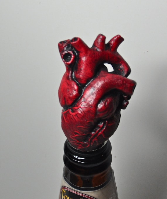 anatomical heart winestopper blood red, Human body