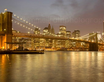 Digital Download - Brooklyn Bridge at Night