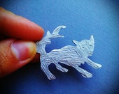 Playful Wolf Pin