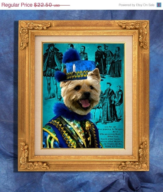 Norwich Terrier Art Print 11 x 14 inch original illustration artwork giclee archival premium poster print By Nobility Dogs