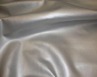 "Vinyl Leather contract auto fabric Silver metallic Marine Indoor Outdoor upholsstb fabric per yard 54"" wide"