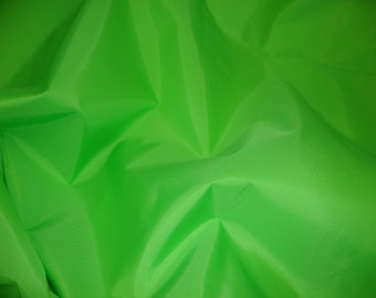 """Lime  Packcloth 420 Denier Nylon Water Resistant 60"""" wide fabric per yard"""
