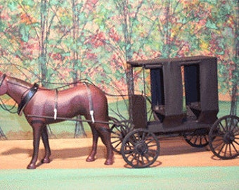 Miniature Amish Buggy-Ohio Surrey---MADE TO ORDER