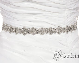 SALE KIMORA rhinestone wedding bridal sash , belt