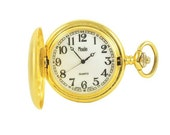 Elegant Antique Moulin Gold Quartz Pocket Watch