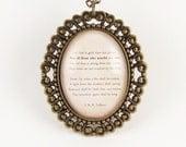 Custom Poem Necklace, Personalized Pendant For Song Lyrics Or Poem