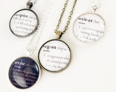 Customized Dictionary Jewelry, Personalized Bridesmaid Gift Necklace .
