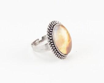 Nebula Galaxy Ring, Cosmic Jewelry, Adjustable Ring