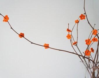 Crochet Orange Flower set (30 pcs)