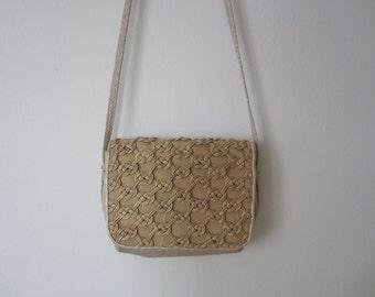 Vintage 70s Gold Knot Shoulder Bag