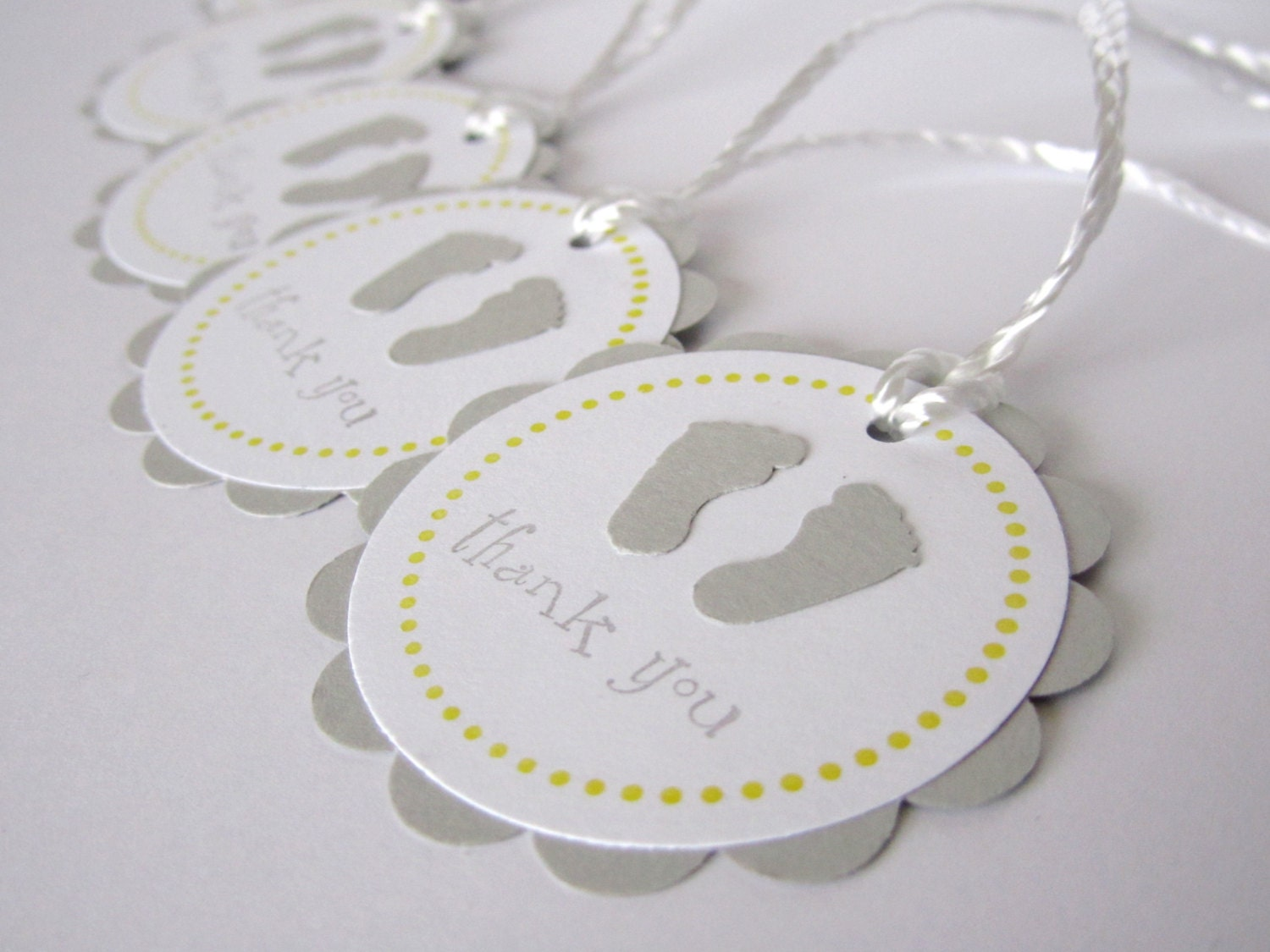 Baby Shower Tags Images ~ Baby shower favor tags thank you grey and by wildbeanlore