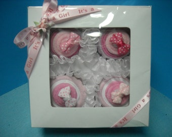 Pink Gift Cupcakes for Baby Girl