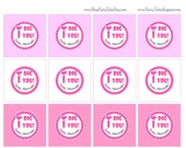 """Valentine's Day I DIG YOU Personalized Custom Printable 2"""" circles Favor Kids School PartyTales"""