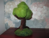 Needle Felted Wool Tree - Waldorf Play Green Spring Foliage