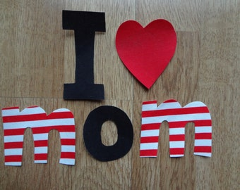 Iron On Applique VALENTINES SHIRT Boy I Love Mom Diy Customize Photo Prop Valentines Photo Prop  My Little Beauty Queen